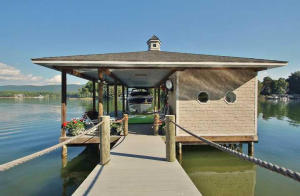 Custom dock at 140 Blackwater - For Sale at Smith Mountain Lake